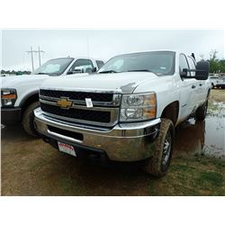 2012 CHEVROLET 2500HD PICKUP, VIN/SN:1GC1KVCG2CF209939 - 4X4, EXT CAB, V8 VORTEC GAS ENGINE, A/T, OD