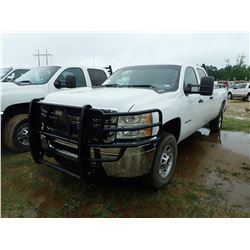 2012 CHEVROLET 2500HD PICKUP, VIN/SN:1GC1CVCG9CF170909 - CREW CAB, V8 GAS ENGINE, A/T, ODOMETER READ