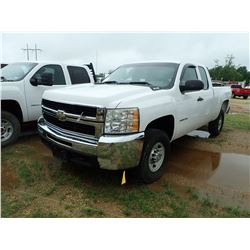 2010 CHEVROLET 2500HD PICKUP, VIN/SN:1GC5CVBG0AZ181599 - EXT CAB, VORTEC V8 GAS ENGINE, A/T, ODOMETE