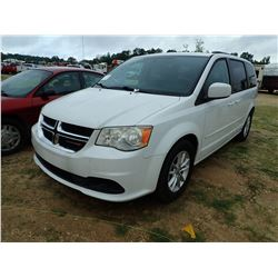 2013 DODGE GRAND CARAVAN VAN, VIN/SN:2C4RDGCG8DR814437 - GAS ENGINE, A/T, ODOMETER READING 31,686 MI