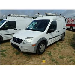 2012 FORD TRANSIT CONNECT CARGO VAN, VIN/SN:NM0LS7AN5CT084827 - PROPANE ENGINE, A /T, ODOMETER READI