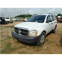 2004 DODGE DURANGO, VIN/SN:1D4HB38N34F208555 - GAS, A/T, ODOMETER READING 169,207 MILES