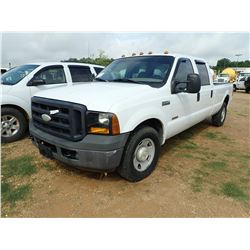 2006 FORD F350 PICKUP, VIN/SN:1FTWW30P16ED87368 - CREW CAB, POWERSTROKE DIESEL ENGINE, A/T