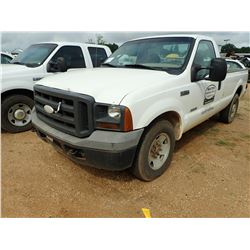 2005 FORD F250 PICKUP, VIN/SN:1FTSF20P35EB30753 - POWERSTROKE DIESEL ENGINE, A/T