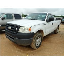 2007 FORD F150 PICKUP, VIN/SN:1FTRF14W67NA82369 - 4X4, EXT CAB, V8 GAS ENGINE, A/T, ODOMER READING 2