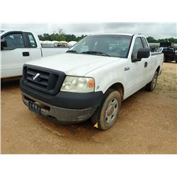 2006 FORD F150 PICKUP, VIN/SN:1FTRF12V26NA99081 - EXTENDED CAB, GAS A/T, ODOMETER READING 344,637 MI