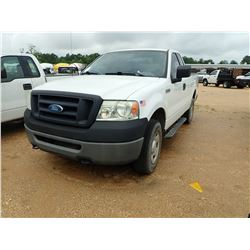 2008 FORD F150 PICKUP, VIN/SN:1FTRF14W18KC27448 - GAS ENGINE, A/T, ODOMETER READING 155,989 MILES (U