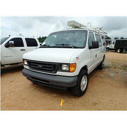 2007 FORD VAN, VIN/SN:1FTSE34L87DA26087 - GAS ENGINE, A/T (UTILITY COMPANY OWNED)