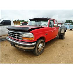 1992 FORD F350 PICKUP, VIN/SN:1FTJX35G3NKB84966 - DUALLY, EXTENDED CAB, GAS, 6 SPEED TRANS