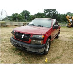 2008 CHEVROLET COLORADO PICK UP, VIN/SN:GCC5136968186791 - EXT CAB, GAS ENGINE, A/T, ODOMETER READIN