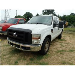 2008 FORD F250 PICK UP, VIN/SN:1FTSX20RX8EE46640 - EXT CAB, POWERSTROKE DIESEL ENGINE, A/T, ODOMETER