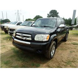 2005 TOYOTA TUNDRA PICK UP, VIN/SN:5TBET34145S491543 - CREW CAB, V8 GAS ENGINE, A/T, ODOMETER READIN