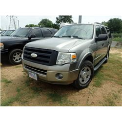 2008 FORD EXPEDITION VIN/SN:1FMFU15598LA86679 - V8 GAS ENGINE, A/T, ODOMETER READING 152,032 MILES
