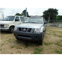 2005 NISSAN XTERRA SUV, VIN/SN:5N1AN08U55C626786 - V6 GAS ENGINE, A/T, ODOMETER READING 148,270 (NO