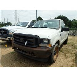 2003 FORD F250 PICKUP, VIN/SN:1FTNF20L83ED84594 - GAS ENGINE, A/T, ODOMETER READING 366,720
