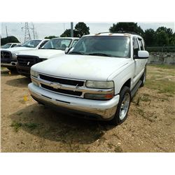 2001 CHEVROLET TAHOE SUV, VIN/SN:1GNEC13T91J164276 - GAS ENGINE, A/T, ODOMETER READING 250,151 MILES