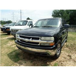 2002 CHEVROLET TAHOE SUV, VIN/SN:1GNEC13Z02J134847 - GAS ENGINE, A/T