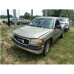 2001 GMC 1500 PICK UP, VIN/SN:1GTEC14W112131534 - GAS ENGINE, A/T, ODOMETER READING 227,993 MILES