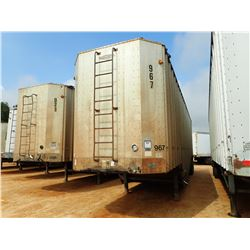 1995 PEERLESS 42-DC CHIP TRAILER, VIN/SN:1PLE04220SPA17406 - T/A, POSSUM BELLY, 42' LENGTH, MANUAL T