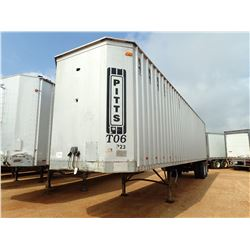 2010 PITTS CHIP TRAILER, - T/A, 42' LENGTH, 11R4.5 TIRES (BILL OF SALE ONLY)