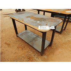 "29"" X 57"" METAL WELDING TABLE (B-7)"