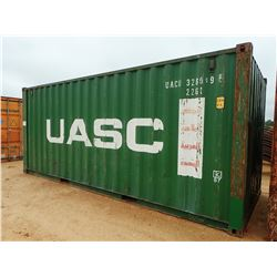 20' STEEL SHIPPING CONTAINER (B-9)