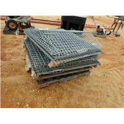 (4) METAL FOLD UP CAGES (B-9)