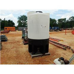 500 GAL PLASTIC TANK W/CONE BOTTOM (B-9)