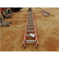 WERNER 32' FIBERGLASS EXTENSION LADDER, - (B-9)