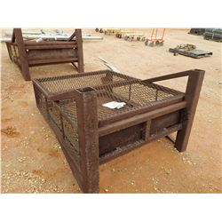 """48"""" WIDE WIRE BOTTLE RACK, - W/LIFTING EYES, 60"""" HIGH, 16"""" THICK (B-9)"""