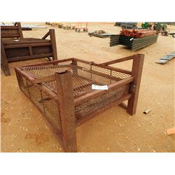 """48"""" WIDE WIRE BOTTLE RACK, - W/LLIFTING EYES, 60"""" HIGH, 16"""" THICK (B-9)"""