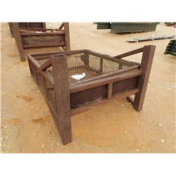 """48"""" WIDE WIRE BOTTLE RACK - W/LIFTING EYES, 60"""" HIGH, 16"""" THICK (B-9)"""