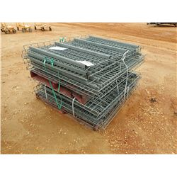 (21) WIRE SHELVES, FITS PALLET RACKS (B-9)