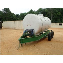 WATER TANK W/GAS PUMP MTD ON T/A TRAILER (C-1)
