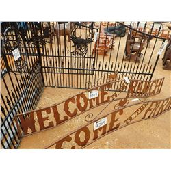 10' METAL WELCOME TO THE RANCH SIGN (C-6)