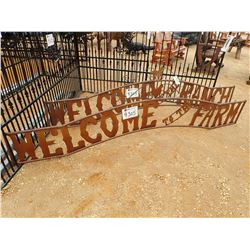 10' METAL WELCOME TO THE FARM SIGN (C-6)