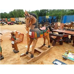 "60"" TEAKWOOD ROCKING HORSE (C-6)"