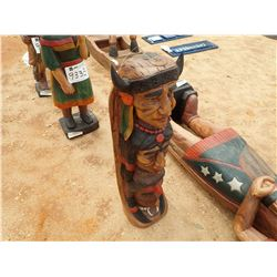 "40"" TEAKWOOD TOTEM POLE (C-6)"