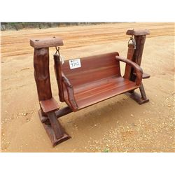 TEAKWOOD SWING, LOG ON BOTTOM (C-6)