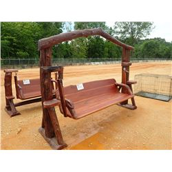TEAKWOOD SWING, LOG ON TOP (C-6)