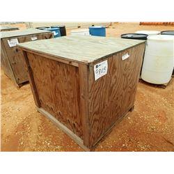 "WOOD BOX, 43"" WIDE X 48"" LONG X 38"" HIGH (C-8)"