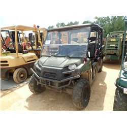 2010 POLARIS 570 RANGER UTV, VIN/SN:4XAWH76A4A2880354 - 4X4, CREW CAB, WINCH, DUMP BED, WINDSHIELD,