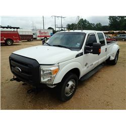 2012 FORD F350 PICK UP, VIN/SN:1FT8W3CTXCEA062911 - CREW CAB, POWER STROKE DIESEL ENGINE, A/T