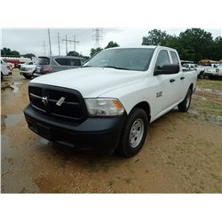 2015 RAM 1500 PICKUP, VIN/SN:1C6RR6FGXFS578535 - EXT CAB, GAS ENGINE, A/T, ODOMETER READING 114,075