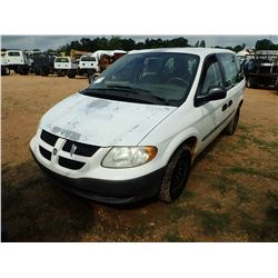 2003 DODGE CARAVAN VIN/SN:1D4GP21353B33553 - GAS ENGINE, A/T, ODOMETER READING 58,272 MILES