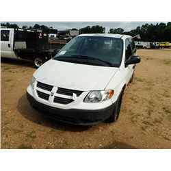 2006 DODGE CARAVAN VIN/SN:1D4GP21E56B515947 - GAS ENGINE, A/T, ODOMETER READING 46,487 MILES