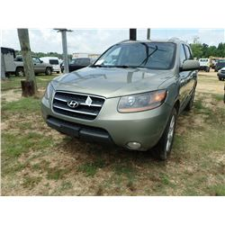 2008 HYUNDAI SANTE FE VIN/SN:5NMSH13E98H204869 - GAS ENGINE, A/T, ODOMETER READING 341,377 MILES