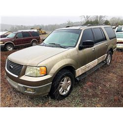 2003 FORD EXPEDITION VIN/SN:1FMPU16L93LB71029 - (SELLING ABSENTEE- LOCATED IN FORT PAYNE, ALABAMA)
