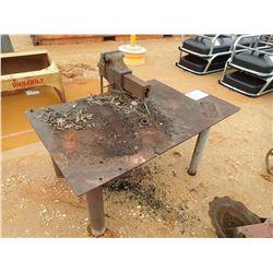 METAL TABLE W/VISE (C-3)