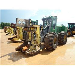 JOHN DEERE 643K FELLER BUNCHER-- JOHN DEERE SAW HEAD, CAB, A/C, 28L-26 TIRES, METER READING 6,865 HO